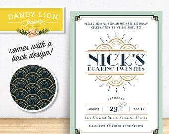 30th Birthday (Goodbye Roaring 20s!) Digital Invitation - DIY Printable Invitation
