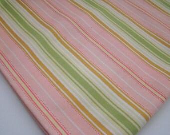 Sale! Freshcut Fabric by Heather Bailey, Lounge Stripe Peach, Last Yard, OOP HTF