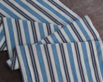 Guatemalan Fabric in Blue, Yellow, and White Stripe