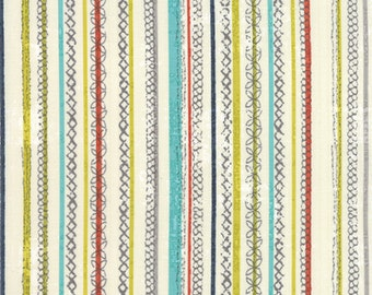 Garden Project - Stitched Stripe in Cream by Tim & Beck for Moda Fabrics
