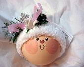 SALE Christening Baptism Gift Ornament Dove Cross Pink Christmas Townsend Custom Gifts (Originally 16.95) - F