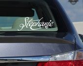 Personalized car monogram ,window or wall monogram design Your name decal, custom vinyl decal for car - 91
