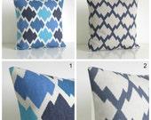 Ikat Pillow Sham, Pillow Cover, Ikat Cushion Cover, Ikat Pillow Cover, Pillow Case, Throw Pillow Cover - Ikat Blue Collection