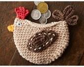 Crochet Chicken Coin Purse