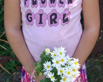Flower Girl Shirt, Flower girl front, PETAL PATROL back Tshirt - Girls, Child size 2T - Youth XL, Flower girl gift, rehearsal dinner tee