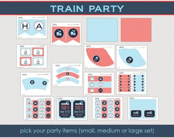 Train Party Collection - Choo Choo train party - Train Birthday Party Package - Printable Party Collection // TRA-06