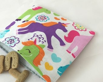 Reusable Snack Bag -  Unicorn Magic - Ready to Ship