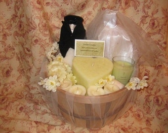 Wedding Theme Candle Baskets or Bridal Shower Baskets