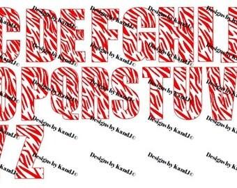 Zebra Alphabet SVG Zebra Letters SVG File  Digital cut file Zebra SVG- Instant Download