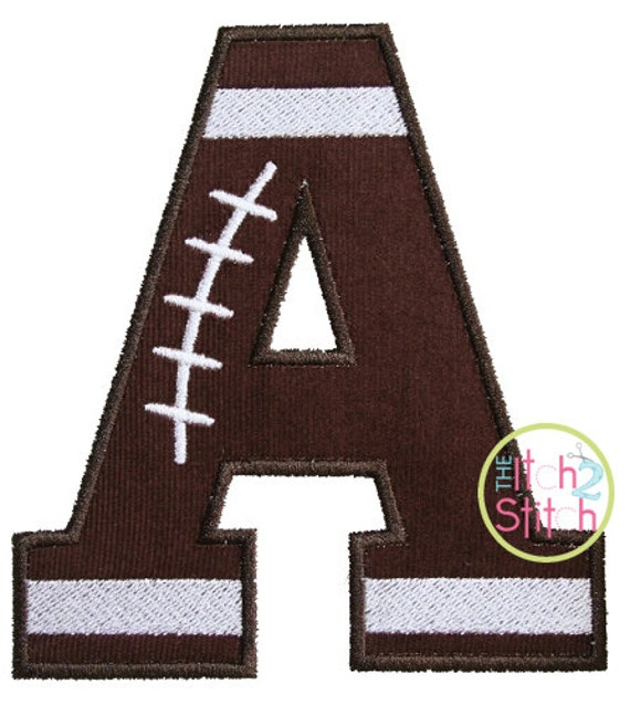 """Football Varsity Applique Alpha Set 4.0"""", 5.5"""" & 6.5"""" INSTANT DOWNLOAD now available"""