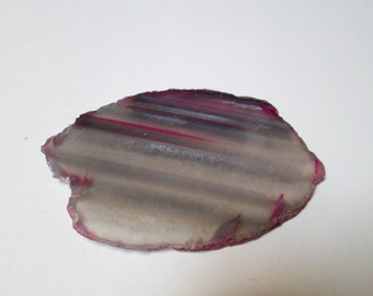 Delicate Purple Dyed Brazil Agate Slab Polished Free Form Wrap It
