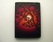 Credit Card Case Moon / Red Sky