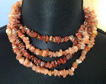 Two Strands of Small Quartz Necklaces
