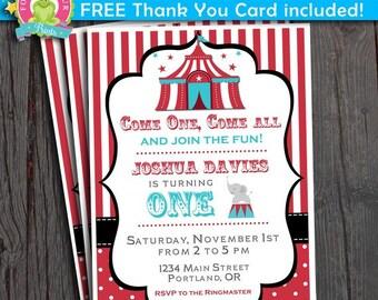 Carnival Birthday Invitation - Carnival Party Invite