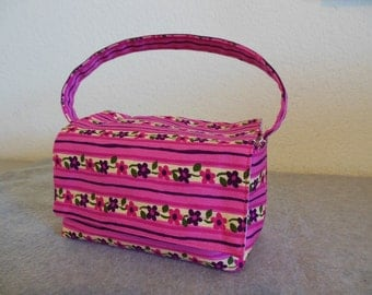 Insulated Lunch Bag - Pink Floral
