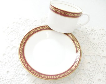 Coalport Red Wheat Cup & Saucer //