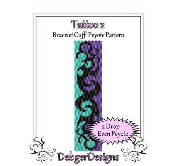 Bead Pattern Peyote(Bracelet Cuff)-Tattoo 2