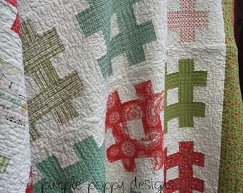 CUSTOM hashtag throw quilt (60x71)