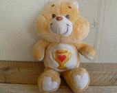 "Vintage Care Bear ""Cheer Bear"" Plush 1983"