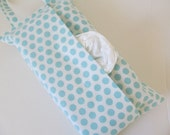 Hanging Tissue Box Cover For Skinny Kleenex/Pale Blue Dot