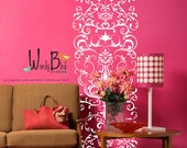 Damask wall decal Scroll- ornate lacey - Vinyl Wall Decal  - extra large floor to ceiling
