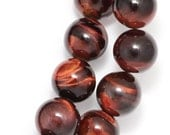 Red Tiger Eye (Grade B) Beads - 10mm Round - Half Strand