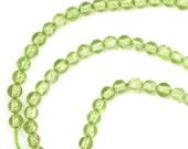 Peridot Beads - 3mm Smooth Round - Half Strand