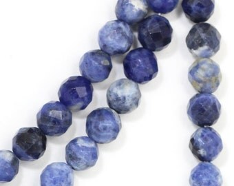 Sodalite Beads - 6mm Faceted Round