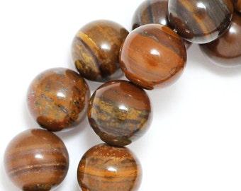 Tiger Iron Beads - 10mm Round - Full Strand