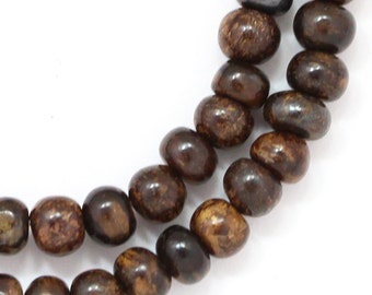 CLEARANCE Bronzite Beads - 5mm Rondelle - Full Strand