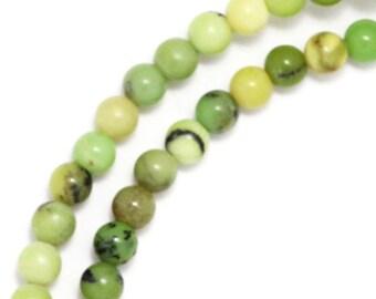 Chinese Chrysoprase Beads - 4mm Round