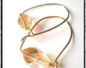 Handmade Golden Swarovski Crystal Hoop Earrings, 14k Gold Filled, Other COLORS,  Choice of  Gold Fill, Sterling, or Oxidized