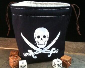 Jolly Roger Pirate Dice Bag