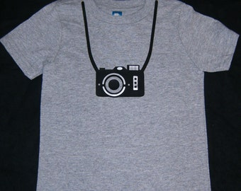 Little Boy Camera T Shirt