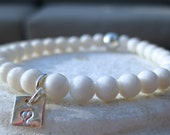 Utö- white coral and sterling silver bracelet