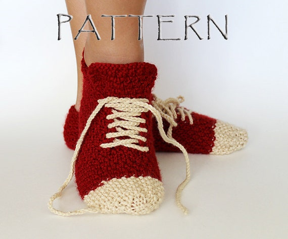 Pattern Knitted Sneaker Slippers