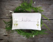 White Wedding Clutch for Bride, Personalized Bride Clutch, White Wedding Purse, Gift for Bride from Bridesmaid, Bridal Ivory White
