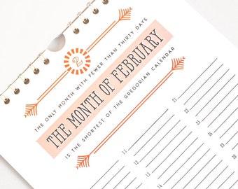 Perpetual Calendar, Birthday Calendar // CALENDARIA