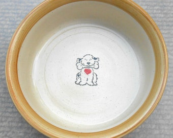 Dog with a Bone Bowl - Tan (Large)
