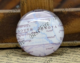10mm,12mm,14mm,16mm,18mm,20mm,25mm Round Glass Cabochons South dakota Map,jewelry Cabochons finding bead,Photo Glass Cabochons,Map Cabochons