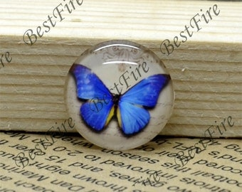 10mm,12mm,14mm,16mm,18mm,20mm,25mm,30mm Round Butterfly Photo Glass Cabochons , finding beads,Photo Glass Cabochons,butterfly-8