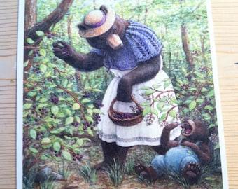 Signed Print, Blackcap Bear Illustration