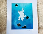 Swimming Polar Bear Print