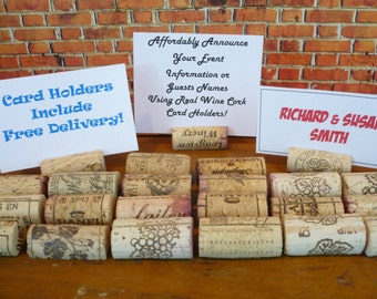 Wine Cork Place Card Holders   Set of 20   FREE DELIVERY