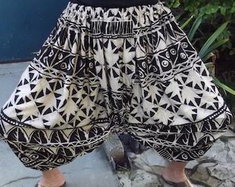 Harem Hippie Thailand Tribal Elastic Waist Genie Unisex Pants Costume