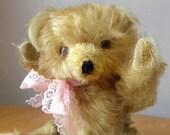 Vintage small Bear - 9 inches Teddy - Mohair Bear - Gold Mohair - Old Bear
