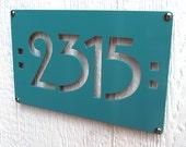 CUSTOM Mission Mini Address Sign Powder Coated Aluminum