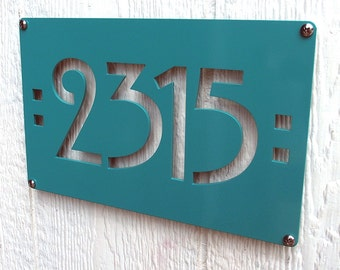 CUSTOM Mission Mini Address Sign Powder Coated Aluminum