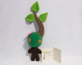 Alvern Earth Elemental Wisp Plushie Sprite Spirit Fantasy Critter Creature Cute Tree Plant Flower