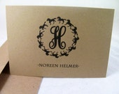 Monogrammed Note for the Horse Lover-Box Set 10  Cards with Gift Bag